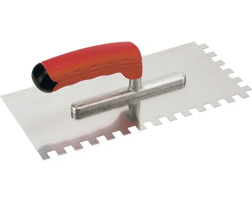 Hladící lžíce z nerezu Kaufmann ozubená 8x8 mm s odlehčenou rukojetí