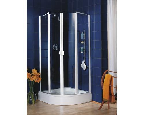 Sprchový kout Schulte Lugano R550 80x80 cm čiré sklo barva profilu alpská bílá
