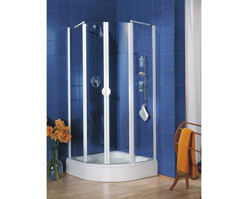 Sprchový kout Schulte Lugano R500 80x80 cm čiré sklo barva profilu alpská bílá