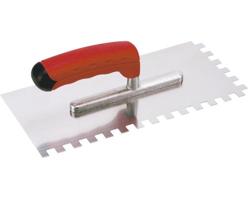 Hladící lžíce z nerezu Kaufmann ozubená 10x10 mm s odlehčenou rukojetí