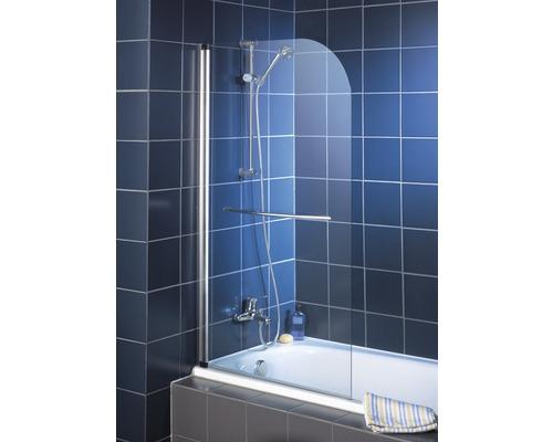 Vanová otočná zástěna Schulte 1dílná 800 mm bezpečnostní sklo, čiré, světlé, chromová optika, včetně držáku na ručníky