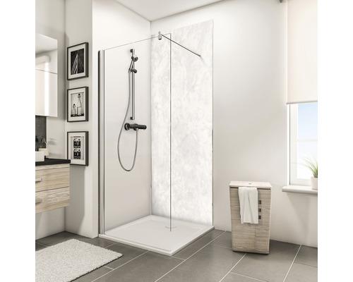 Zadní stěna sprchového koutu Schulte Decodesign dekor kámen mramor světlý 100x210 cm