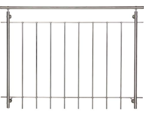 Kompletní sada zábradlí Pertura nerez pro francouzská okna se svislými kulatými tyčemi Š: 2,5 m