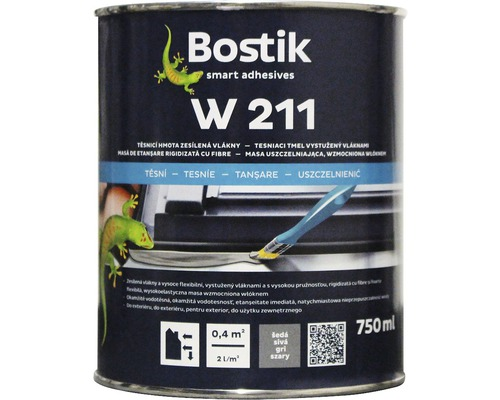 Těsnicí hmota s vlákny Bostik W 211, 750 ml