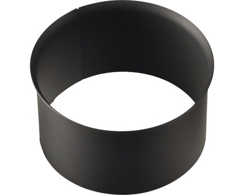 Zděř kouřová 130 mm černá silnostěnná bez růžice