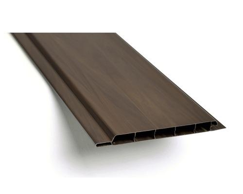 Plastové palubky venkovní 3000 x 100 x 10 mm tmavé dřevo balení 10 ks