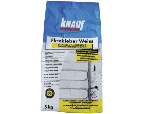 Flexibilní lepidlo na obklady a dlažbu KNAUF Flexkleber C2TE S1 bílé mrazuvzdorné 5 kg