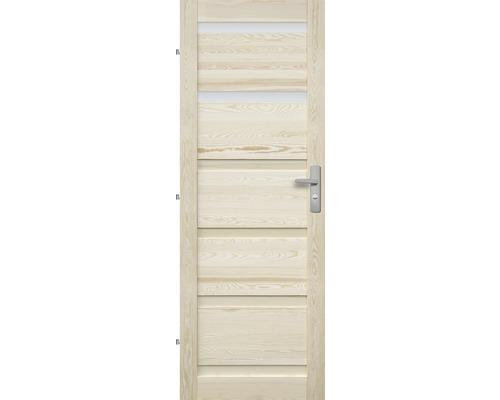 Interiérové dveře masivní Genewa 2S prosklené, 80 L, borovice
