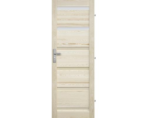 Interiérové dveře masivní Genewa 2S prosklené, 70 P, borovice