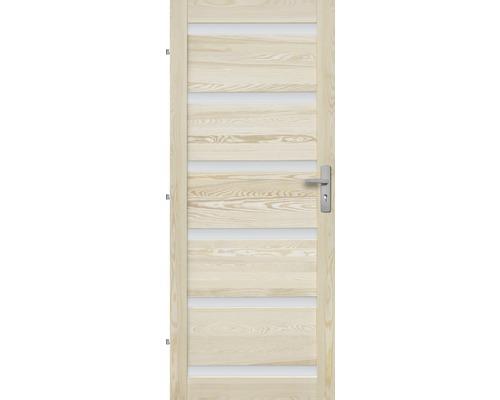 Interiérové dveře masivní Genewa 6S prosklené, 70 L, borovice