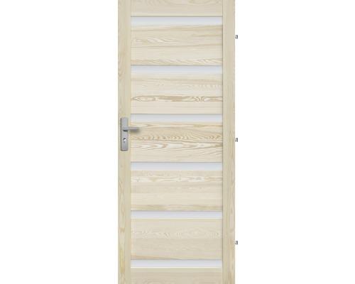 Interiérové dveře masivní Genewa 6S prosklené, 60 P, borovice