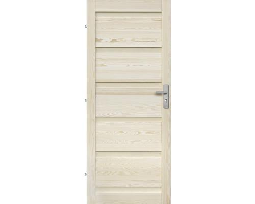 Interiérové dveře masivní Genewa plné, 80 L, borovice