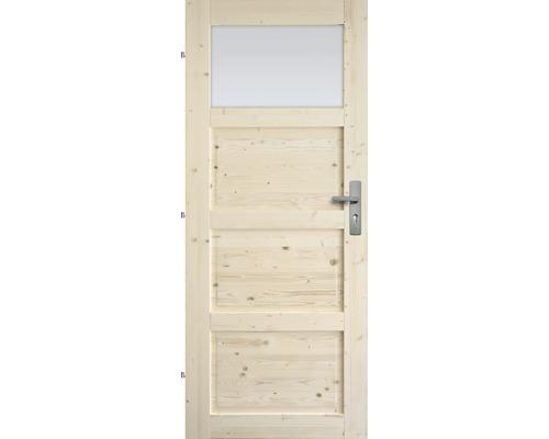 Interiérové dveře masivní Lizbona 1S prosklené, 90 L, borovice