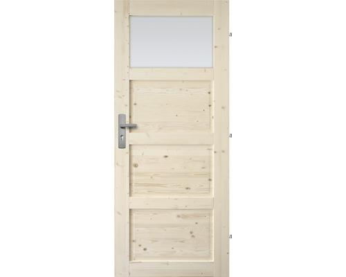 Interiérové dveře masivní Lizbona 1S prosklené, 80 P, borovice