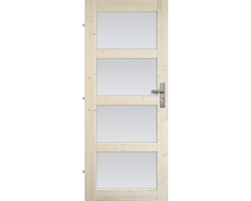Interiérové dveře masivní Lizbona prosklené, 60 L, borovice