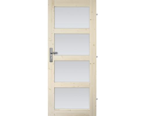 Interiérové dveře masivní Lizbona prosklené, 80 P, borovice