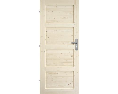 Interiérové dveře masivní Lizbona plné, 90 L, borovice