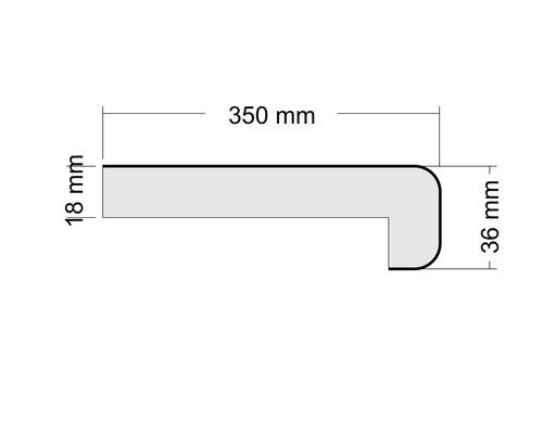 Okenní parapet Polyform vnitřní 350 x 4100 mm s nosem, antracit