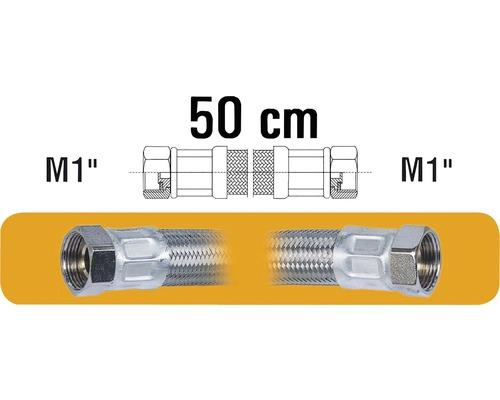 """Hadice pro připojení vodáren M1""""xM1"""" 50 cm nerez"""