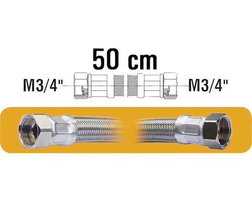 "Hadice nerez pro př.vodáren M3/4""xM3/4"" 50 cm nerez"