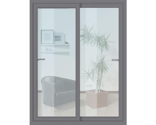 Posuvné dveře plastové antracit s tvrzeným sklem 1800 x 2000 mm