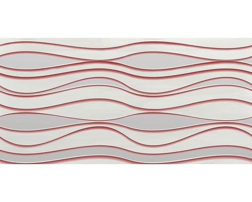 Dekor Varna bílá vlna 25x50 cm