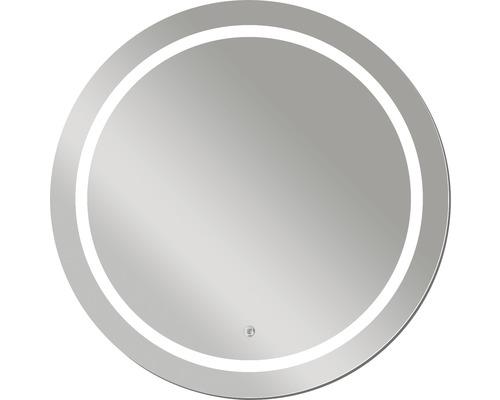 Kulaté zrcadlo do koupelny s LED osvětlením Sivler Sun Ø 78 cm