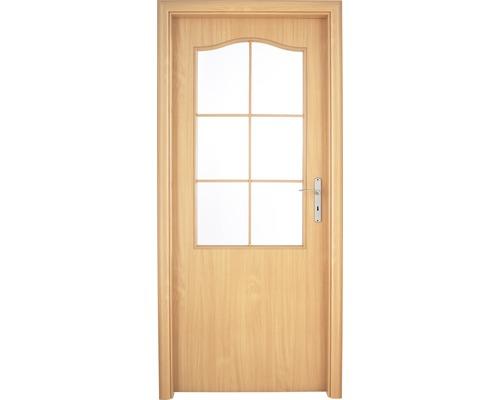 Interiérové dveře Single 2 prosklené 80 P buk