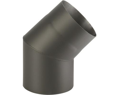 Koleno kouřové 160/45 mm černé silnostěnné