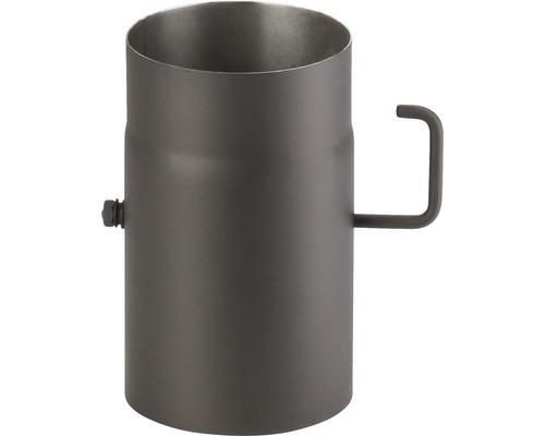 Kouřová roura s klapkou 120/250 mm silnostěnná černá