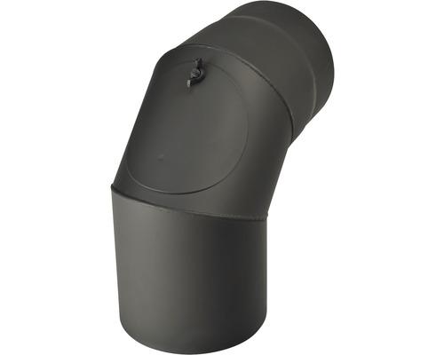 Koleno kouřové 180/90 mm s otvorem černé silnostěnné