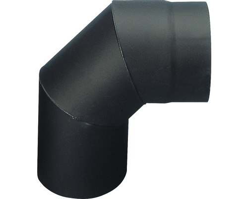 Koleno kouřové 145/90 mm černé silnostěnné