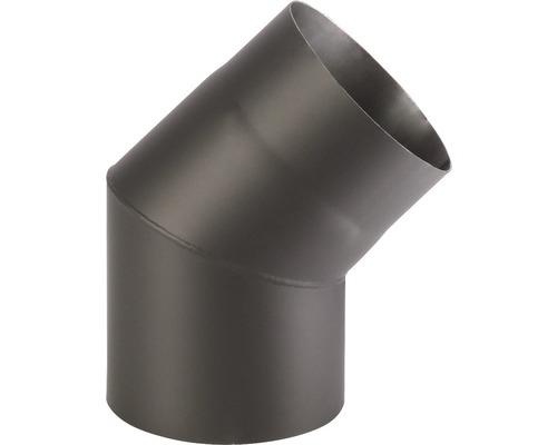 Koleno kouřové 180/45 mm černé silnostěnné