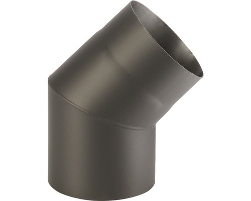 Koleno kouřové 200/45 mm černé silnostěnné