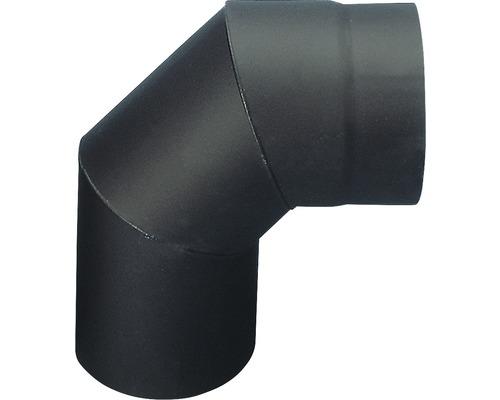 Koleno kouřové segmentové 160 mm černé silnostěnné