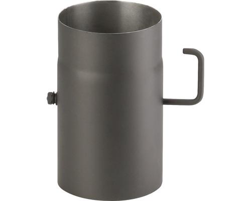 Kouřová roura s klapkou 130/250 mm silnostěnná černá