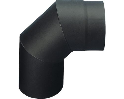 Koleno kouřové segmentové 130 mm černé silnostěnné silnostěnné