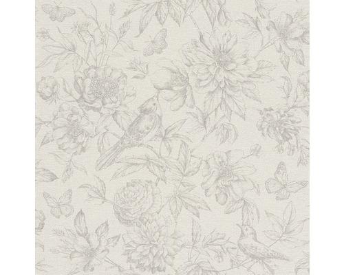 Vliesová tapeta Florentine II, motiv květiny, bílo-béžová
