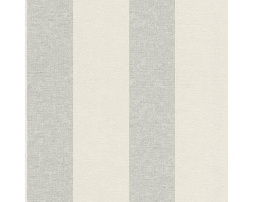 Vliesová tapeta Florentine II, motiv proužky, bílo-šedá