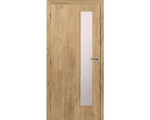 Interiérové dveře Solodoor Klasik 5 prosklené 80 L fólie dub alpský (VÝROBA NA OBJEDNÁVKU)