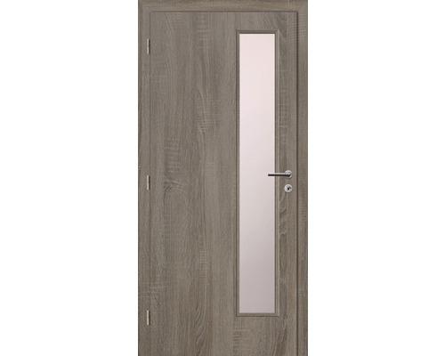 Interiérové dveře Solodoor Klasik 5 prosklené 60 L fólie dub archico (VÝROBA NA OBJEDNÁVKU)