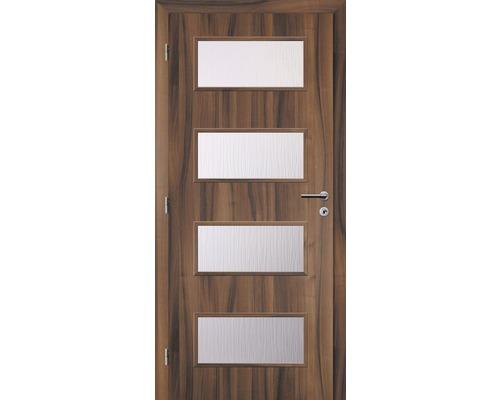 Interiérové dveře Solodoor Zenit 28 prosklené 70 L ořech (VÝROBA NA OBJEDNÁVKU)
