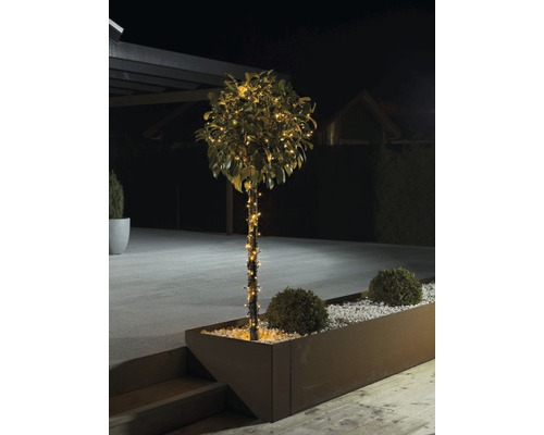 Světelný řetěz Konstsmide 160 LED s kmitavým efektem, jantarové světlo