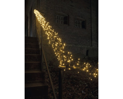 Venkovní vánoční osvětlení shlukový řetěz micro 8 funkcí 768 LED, žluté světlo