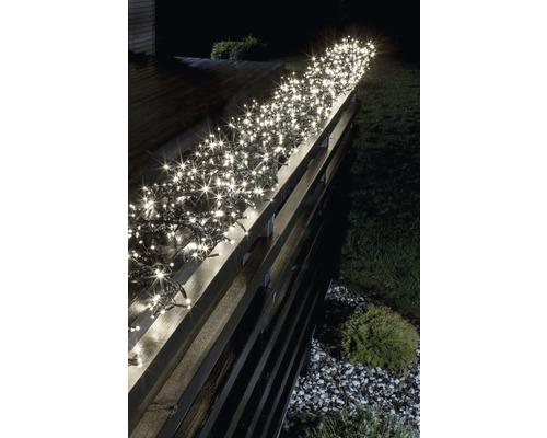 Venkovní vánoční osvětlení shlukový řetěz micro 8 funkcí 960 LED, teplé bílé světlo
