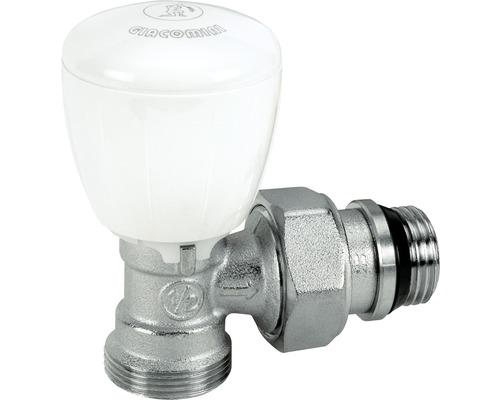 """Termostatický ventil rohový s ruční hlavou Giacomini 1/2""""x16, chrom R431X033"""