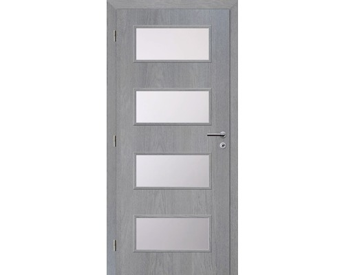 Interiérové dveře Solodoor Zenit 28 prosklené 60 L fólie earl grey (VÝROBA NA OBJEDNÁVKU)