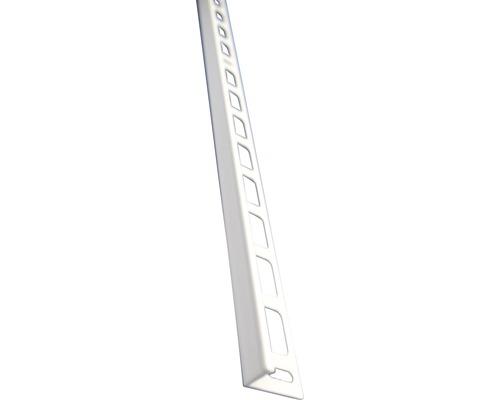 Lišta ALU L 10x2500 mm bílá