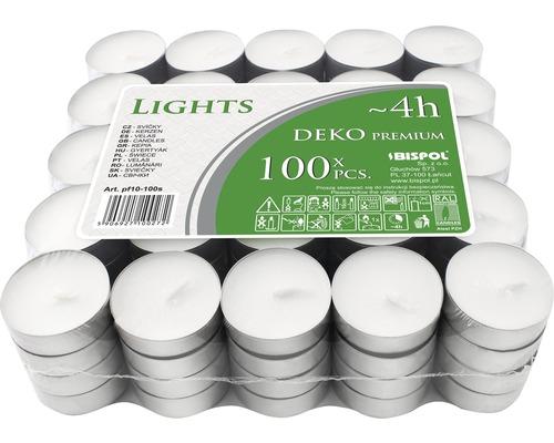 Čajové svíčky DEKO PREMIUM 100 ks