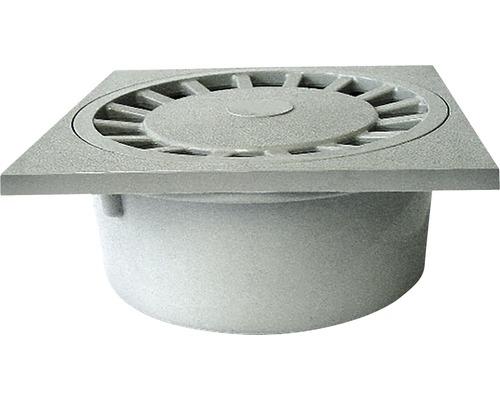 Podlahová vpust 150 x 150 mm se svislým odtokem DN50, vnitřní připojení, plastová mřížka